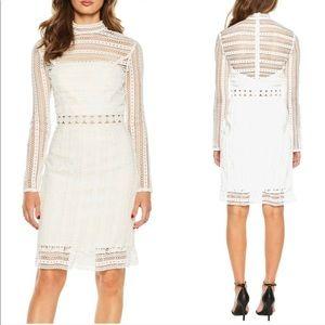 Bardot Revolve Vivian White Lace Dress